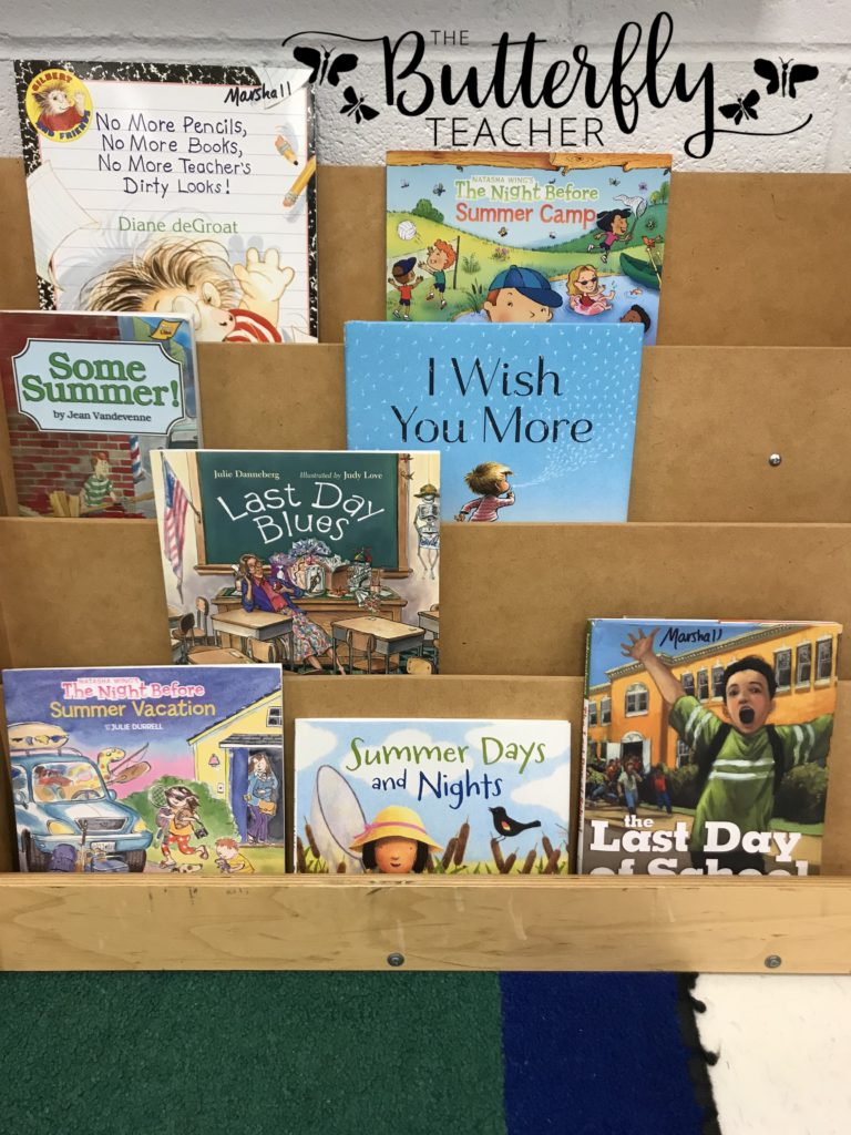 End of Year Bookshelf-The Butterfly Teacher