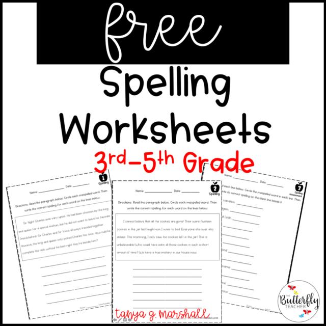 free spelling worksheets for spelling ideas